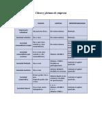 Clases y Formas de Empresa