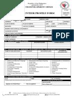 QCYDO-Volunteer Profile Form