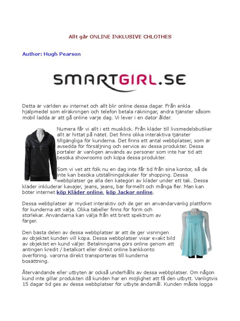9b829cc2ecad köp Kläder online, köp klänningar online, köp Jackor online, köp Skor online  - SmartGirl.se