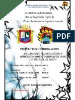 ANALISIS DEL PLANEAMIENTO Y DIMENSIONAMIENTO HIDRAULICO DE UN SISTEMA DE RIEGO (1)