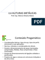 ESTRUTURAS METÁLICAS - Aula 01 IFBA