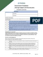 BSBFIM501 Assessment leadership and management