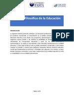Módulo Fílosofía de la Educación
