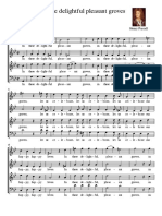 Score - In These Delightful Pleasant Groves Purcell