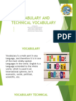 vocabulary techinical expo