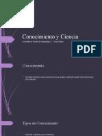 Conocimiento y Ciencia