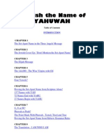 Publish the Name of YAHUWAH