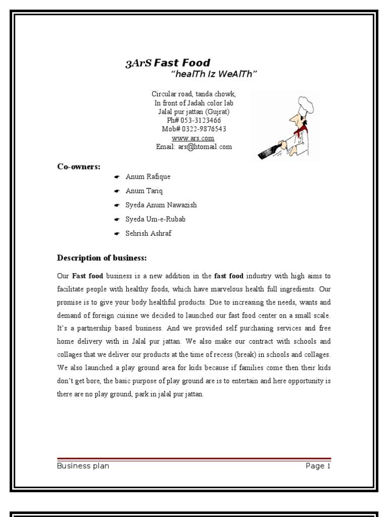 Sandwich Shop Business Plan Template Simple Affidavit Form - Fast food business plan template