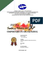 UNIDAD II - FUENTES Y METODOS DEL COMPORTAMIENTO ORGANIZACIONAL