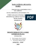 Presión Hidrostática Sobre Superficie Plana - Subgrupo 02
