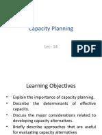 Lec 14- Capacity Planning