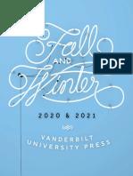 Vanderbilt University Press Fall/Winter 2020 Catalog
