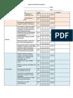 Rubric for Online Presentation