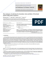 The existence of solutions for boundary value problem of fractional