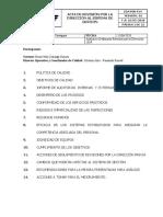 CDA F24 ACTA DE REVISION POR LA DIRECCION