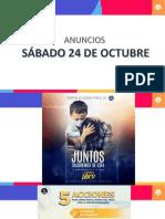 ANUNCIOS 24 DE OCTUBRE
