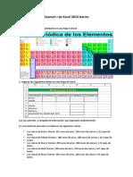 Examen de Excel básico  2013 1