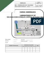 L07 - Válvulas Direccionales - Control de Flujo y Velocidad - 2020