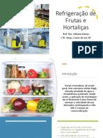 Aula 3.1 Resfriamento em frutas e hortaliças