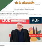 """Porter entrevista. """"Los profesores quieren ser inclusivos, pero necesitan apoyos"""" - El Diario de la Educación » El Diar"""
