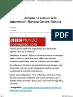 _Filosofar siempre ha sido un acto subversivo__ Mariana Garcés, filósofa