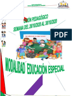 Guion Pedagogico Educación Especial semana del 26 al 30 /10/2020