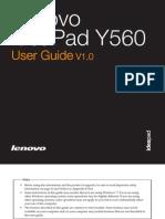Lenovo IdeaPad Y560 UserGuide V1.0