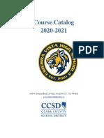 2020-2021 Course Catalog