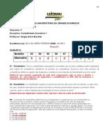 Atividade Avaliativa Especial - Substitutiva 1