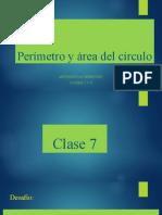 Perímetro y área del círculo
