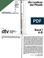 Dtv Lexikon Der Physik Band 1 a-B