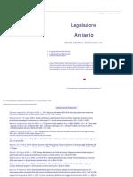 Legislazione Amianto bonifica e ripristino ambientale sentenze Rifiuti