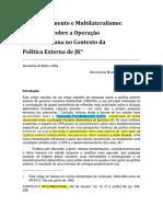 Texto 04 - Alexandra de Mello e Silva - OPA e Política Externa de JK