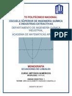 Monografía Ecuaciones no lineales.pdf