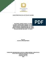 CARACTERISTICAS DE LOS TITULOS VALORES