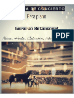 GUABINA DE CONCIERTO, para piano. Por Gerardo Betancourt.