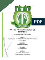 taxonomia de insectos de importancia economica