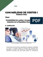 Trabajo Final - Contabilidad de Costos I