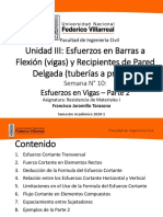 UNIDAD III SEMANA 10 - ESFUERZOS EN VIGAS - PARTE 2