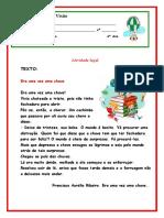 Atividade de Língua Portuguesa Silara