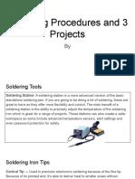noor al-salehi - soldering procedures and 3 projects