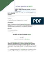 REGLAMENTO DE LA LEY DE REGISTRO DE COMERCIO 09