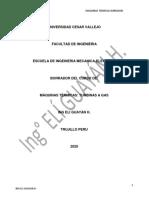 MAQUINAS TERMICAS CLASE 9 EJERCICIOS 2020-II