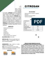 Citrosan Ficha T+®cnica
