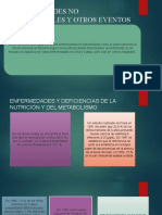 ENFERMEDADES NO TRANSMISIBLES Y OTROS EVENTOS DE SALUD