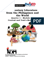 21st Century Literature from the Philippines and the World (Q1 Wk5)
