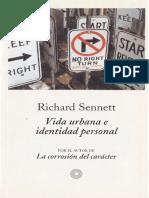 Richard Sennett Vida Urbana e Identidad Personal