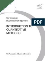 introduction to quantitative techniques pdf