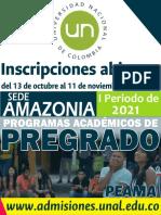 FOLLETO ADMISIONES 2021 - 1S