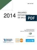 Anuario Estadistico de Salud 2014